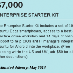 Ubuntu Edge aggiunge la nuova offerta Starter Kit