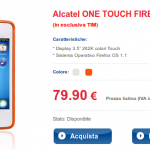 Alcatel One Touch Fire con Firefox OS in Italia