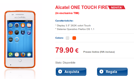 alcatel one touch fire tim