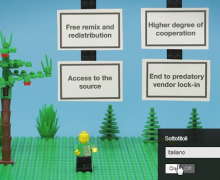 L'open source spiegato con il LEGO