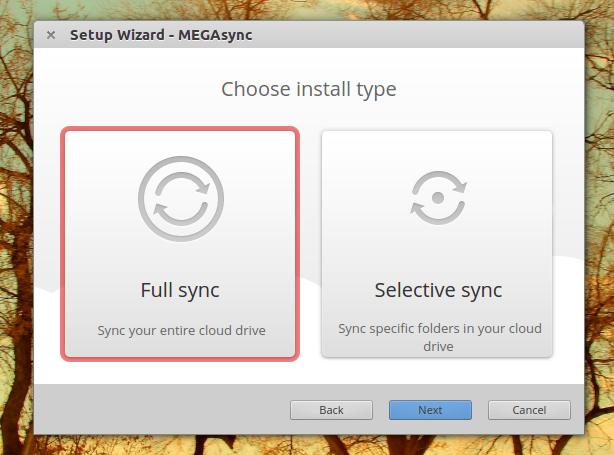 mega-client-ubuntu-selective-sync